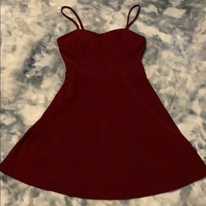 Maroon mini dress